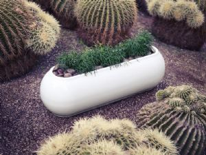 Kannelloni - Designer contemporary curved edged trough planter with easy watering system online at potstore.co.uk